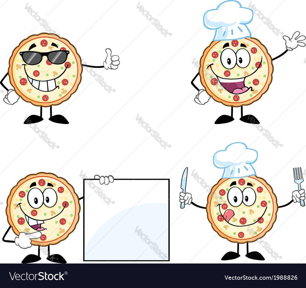 Cartoon pizza vector | Price: 1 Credit (USD $1)