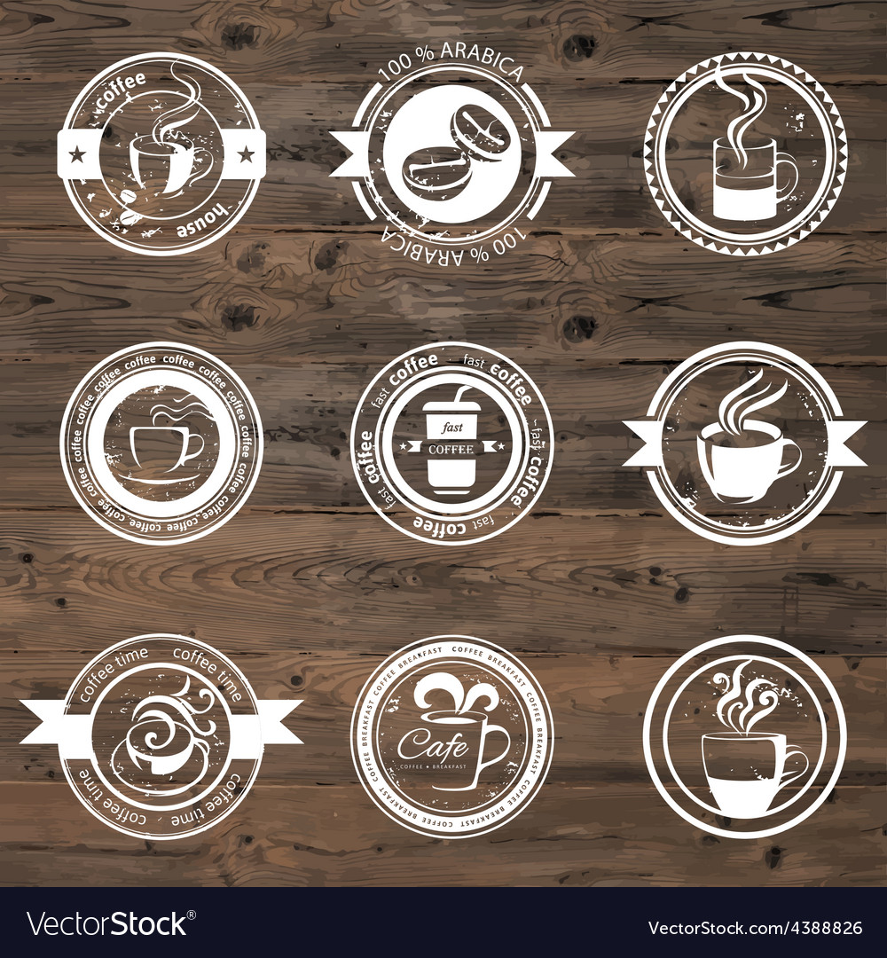 Coffee stamps vector   Price: 1 Credit (USD $1)