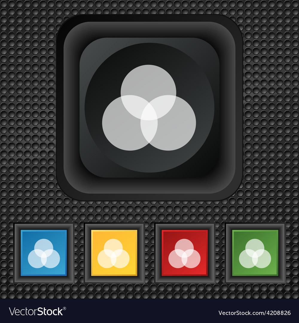 Color scheme icon sign symbol squared colourful vector | Price: 1 Credit (USD $1)