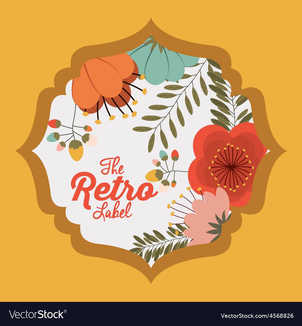 Floral label vector   Price: 1 Credit (USD $1)