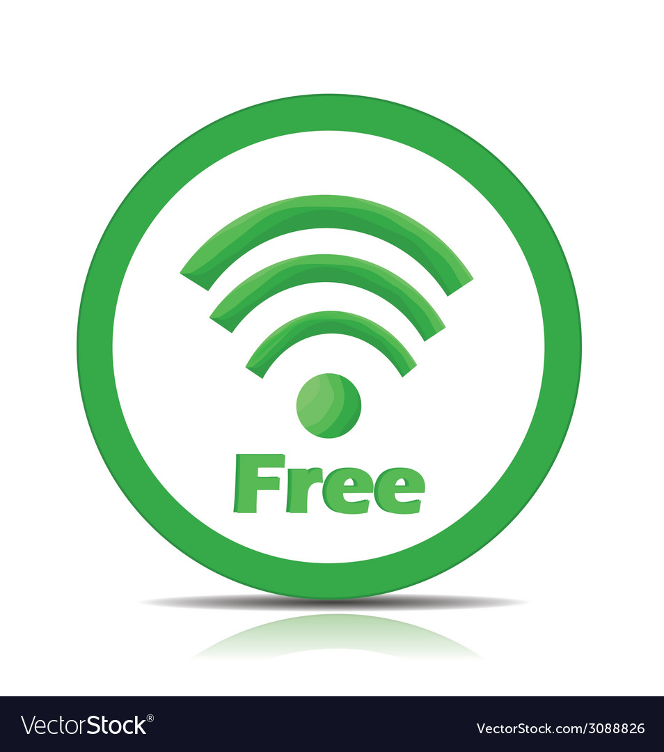 Free wifi vector | Price: 1 Credit (USD $1)