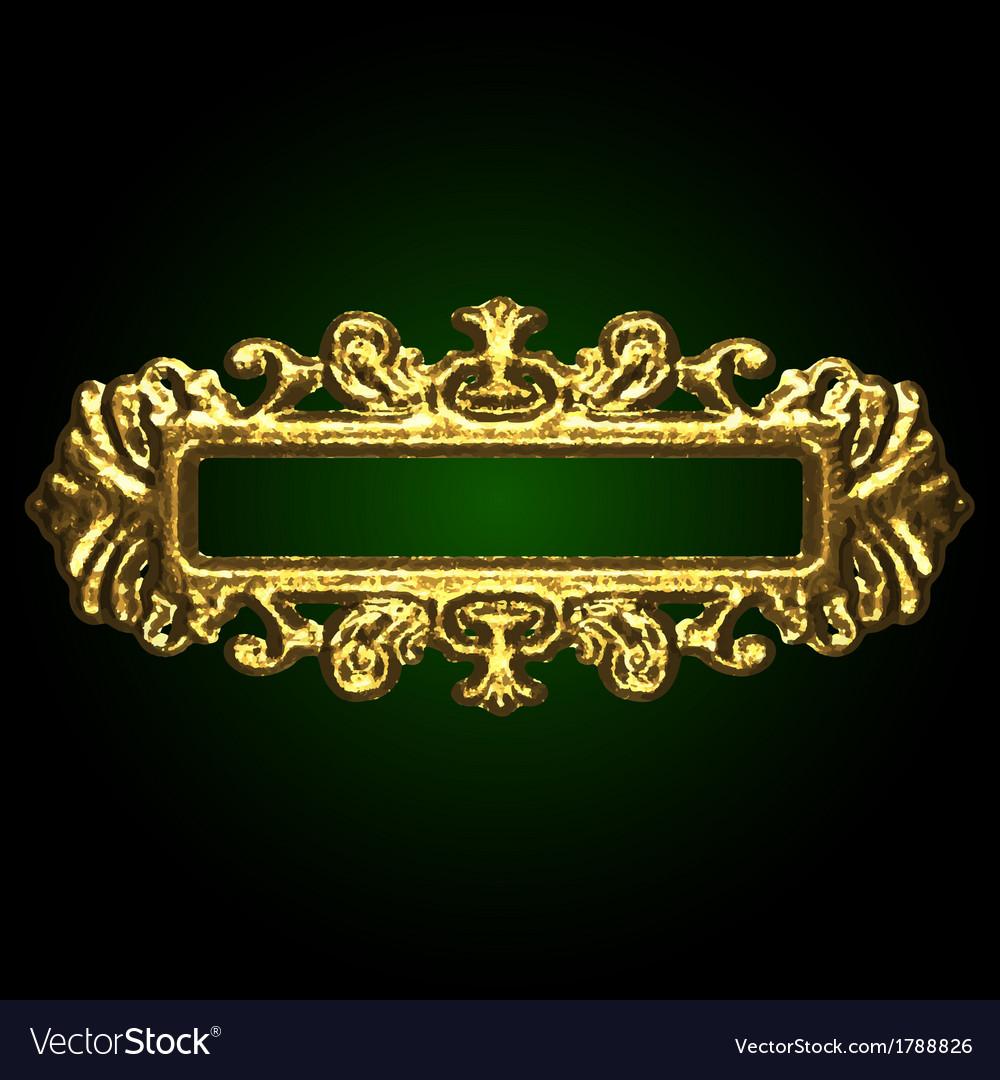 Golden decor vector | Price: 1 Credit (USD $1)