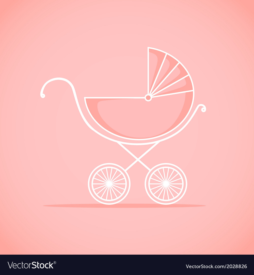 Pram for baby vector | Price: 1 Credit (USD $1)