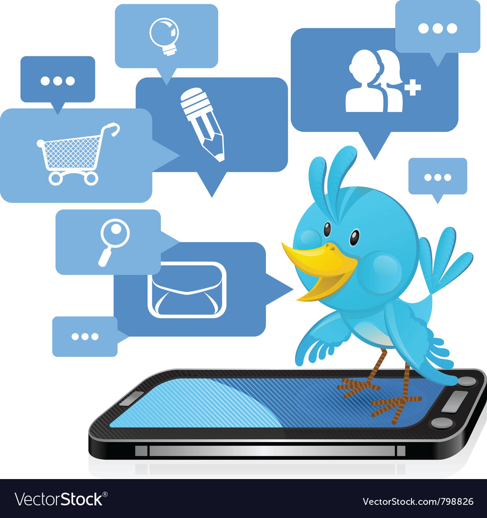 Social networking media bluebird vector | Price: 3 Credit (USD $3)