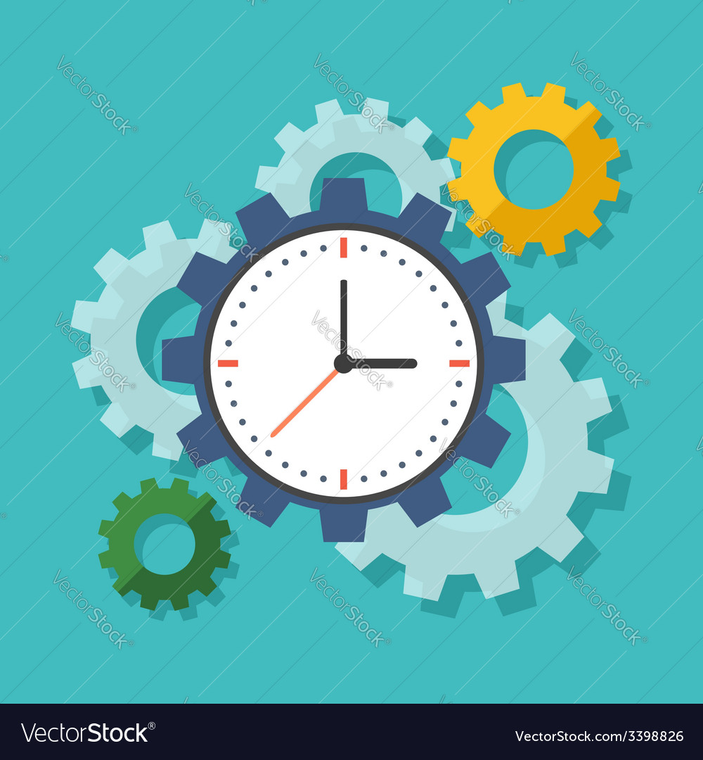 Time management concept flat design stylish vector | Price: 1 Credit (USD $1)