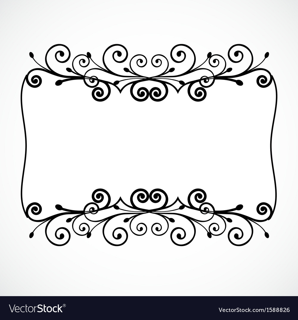 Vintage ornament floral frame vector | Price: 1 Credit (USD $1)