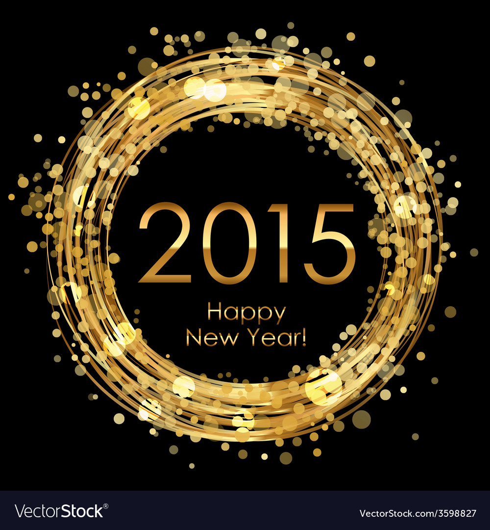2015 glowing background vector