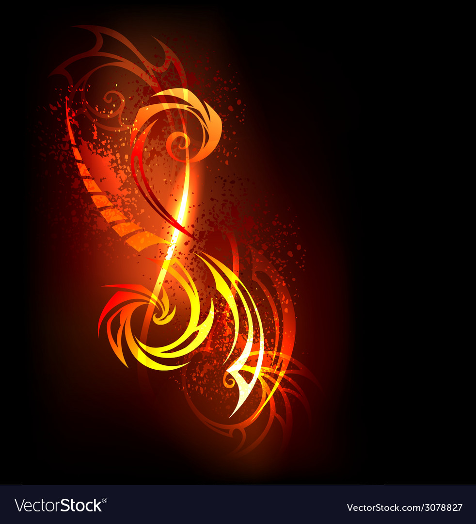 Abstract pattern of fire vector