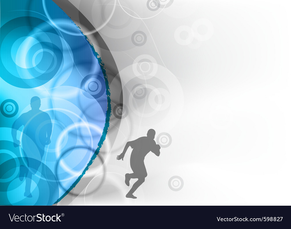 Blue background with the runner vector | Price: 1 Credit (USD $1)