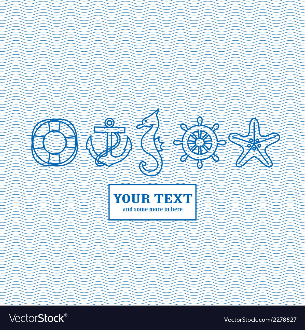 Blue marine background vector | Price: 1 Credit (USD $1)