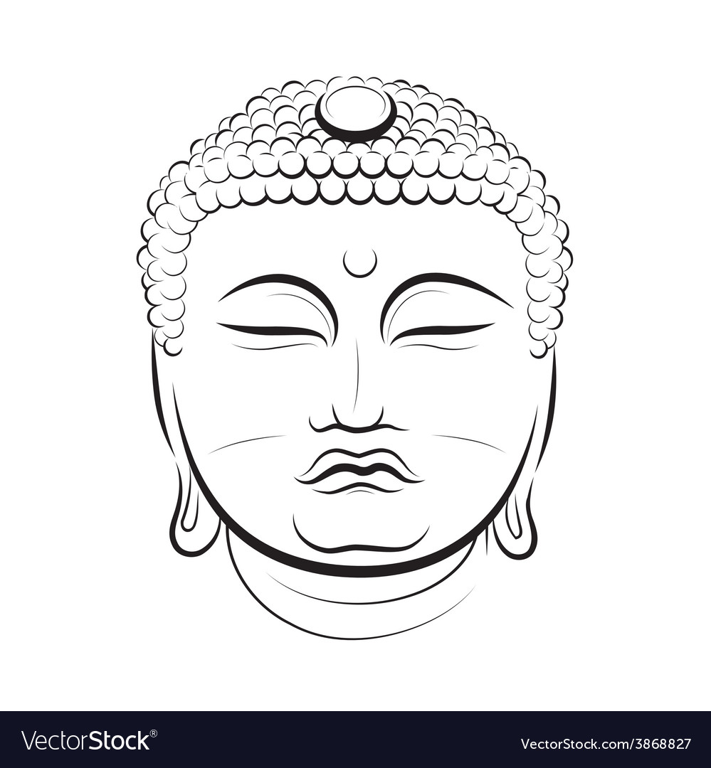 Drawing buddha head vector | Price: 1 Credit (USD $1)