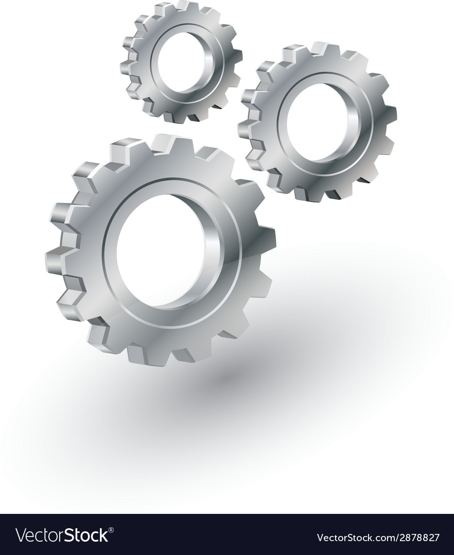 Gears sign vector | Price: 1 Credit (USD $1)