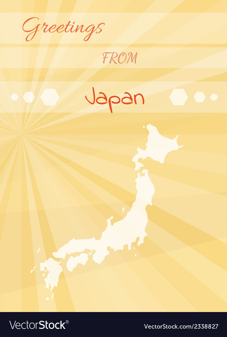 Greetings from japan vector | Price: 1 Credit (USD $1)