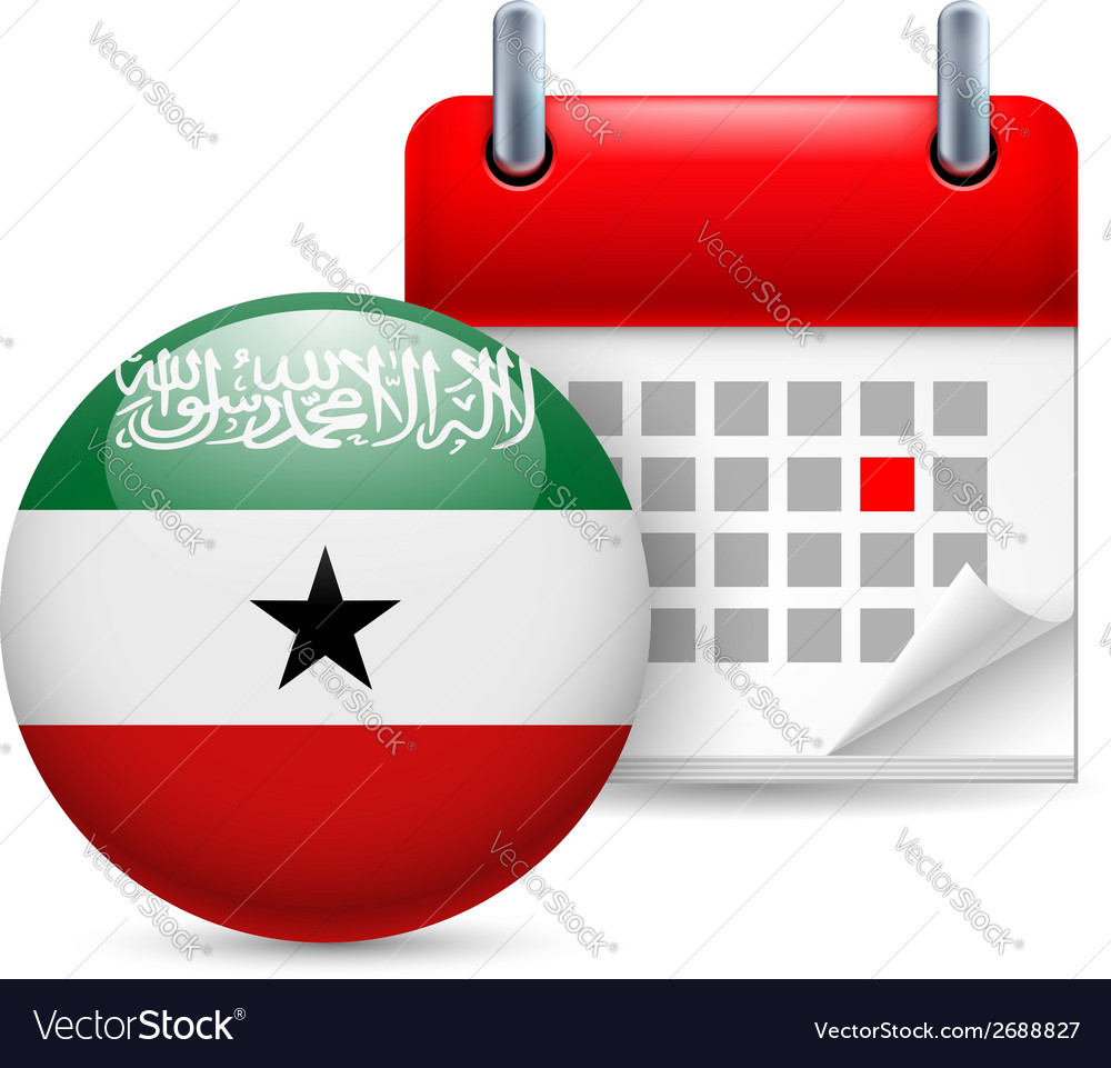 Icon of national day in somaliland vector