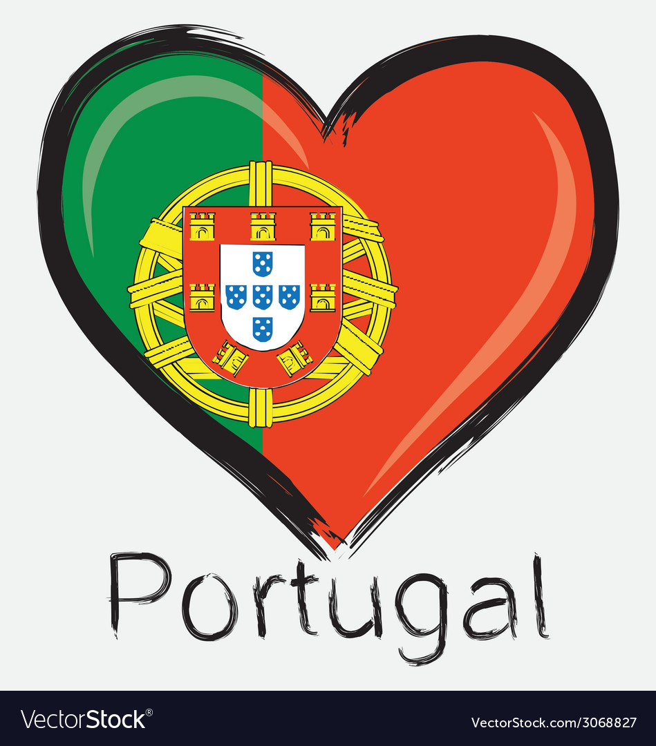 Love portugal flag vector | Price: 1 Credit (USD $1)