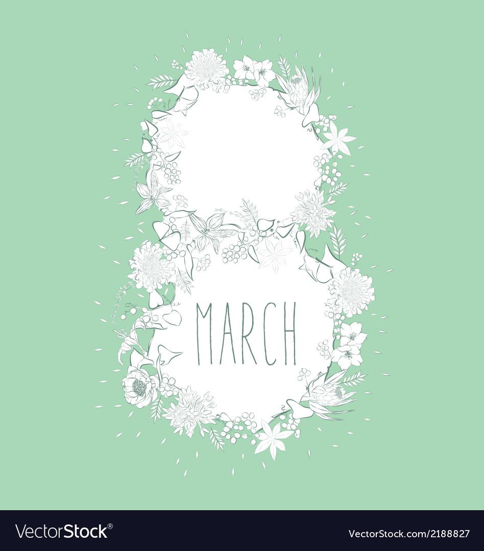 March vector | Price: 1 Credit (USD $1)