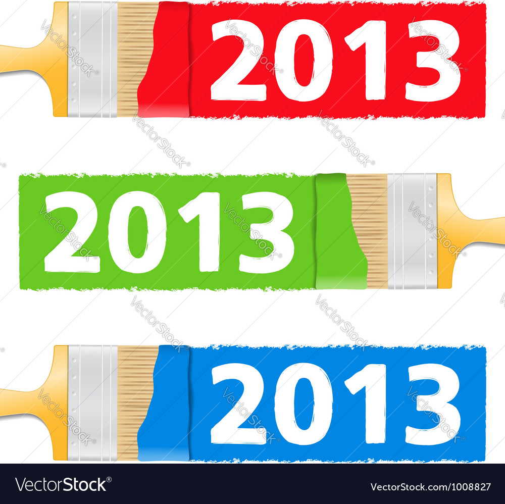 Number 2013 painted by brush vector | Price: 3 Credit (USD $3)