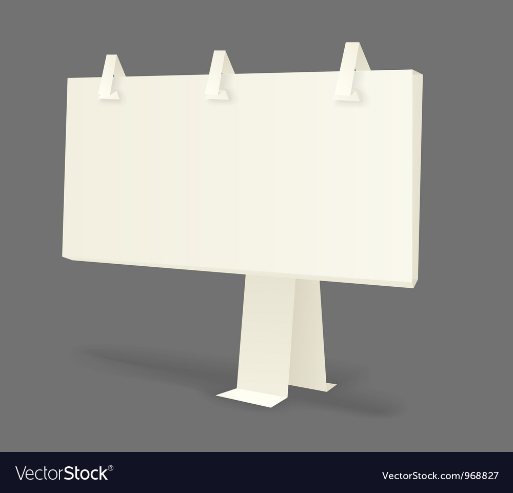 Origami information boards vector | Price: 1 Credit (USD $1)