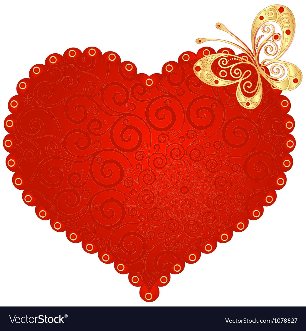 Romantic vintage heart vector | Price: 1 Credit (USD $1)