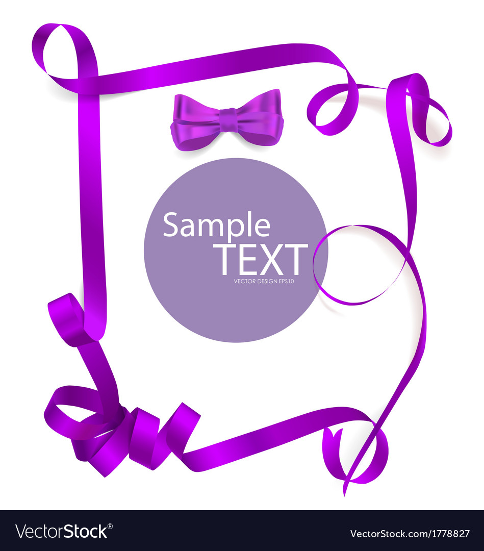 Shiny purple ribbon on white background with copy vector | Price: 1 Credit (USD $1)