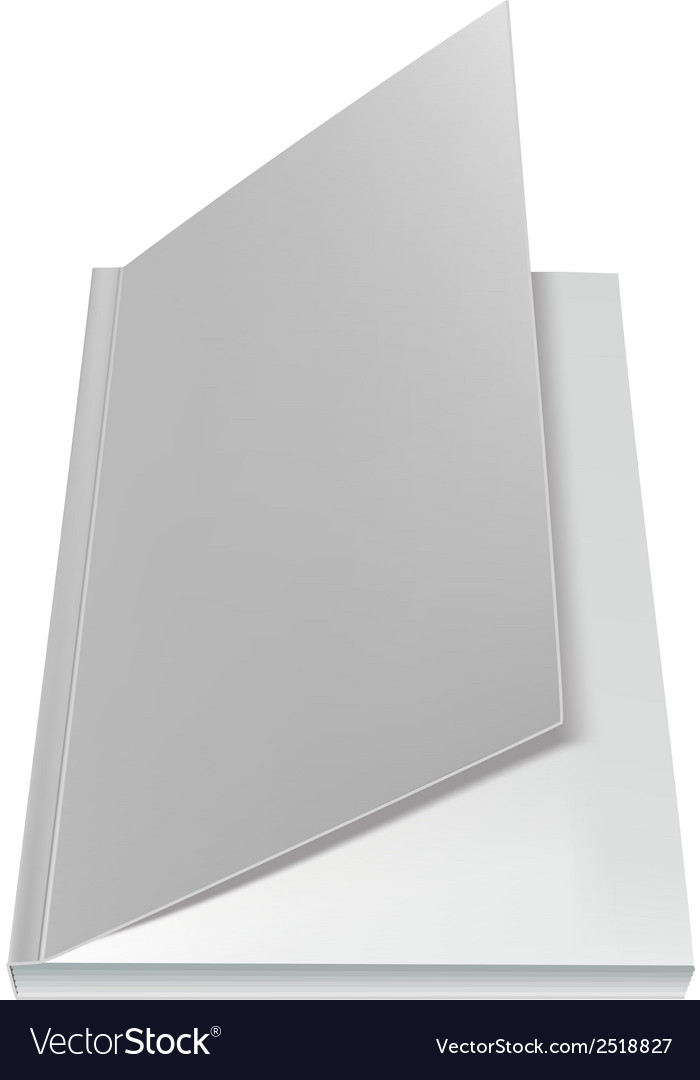 White open book front page vector | Price: 1 Credit (USD $1)