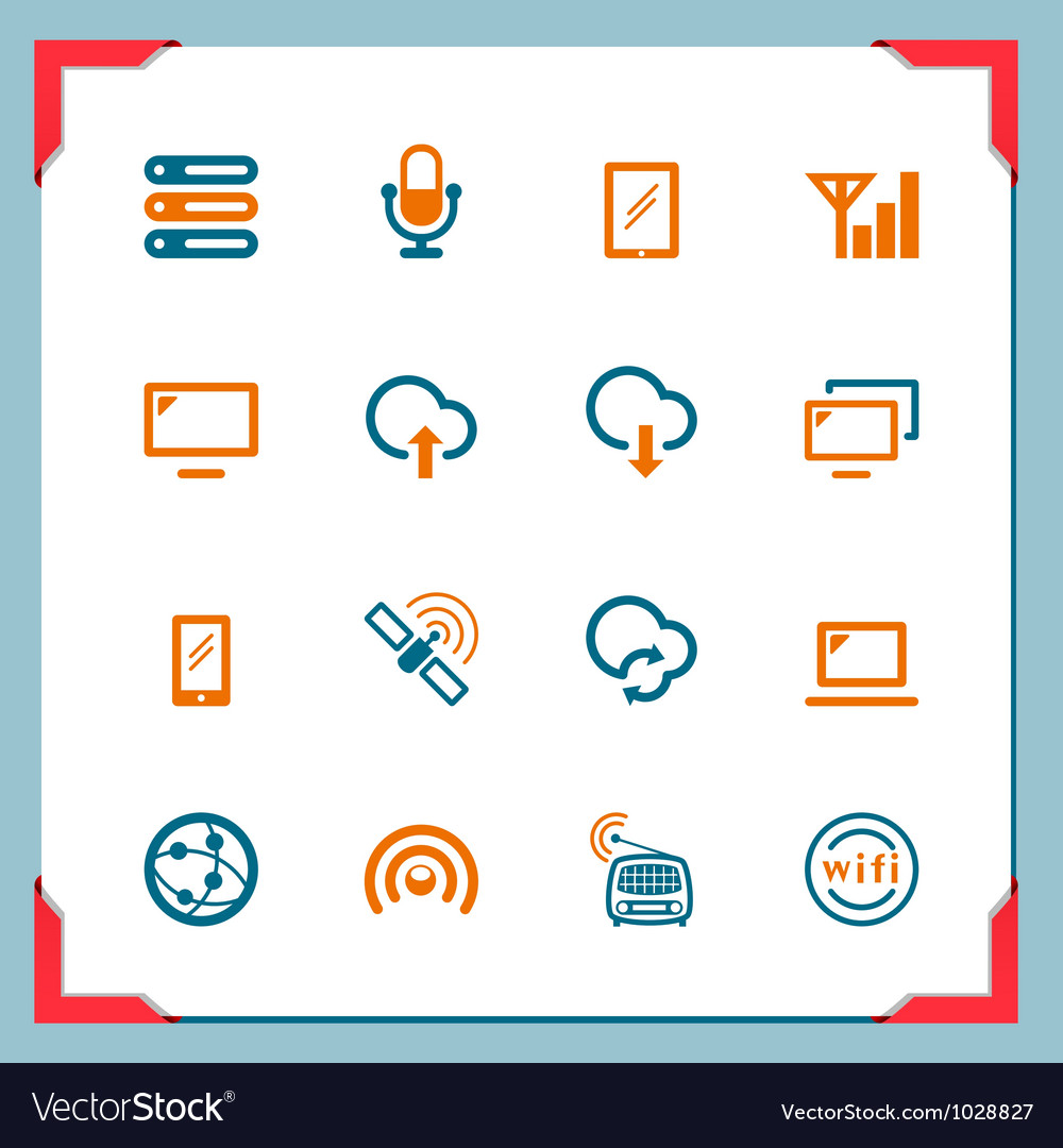 Wireless tehnology in a frame series vector | Price: 1 Credit (USD $1)