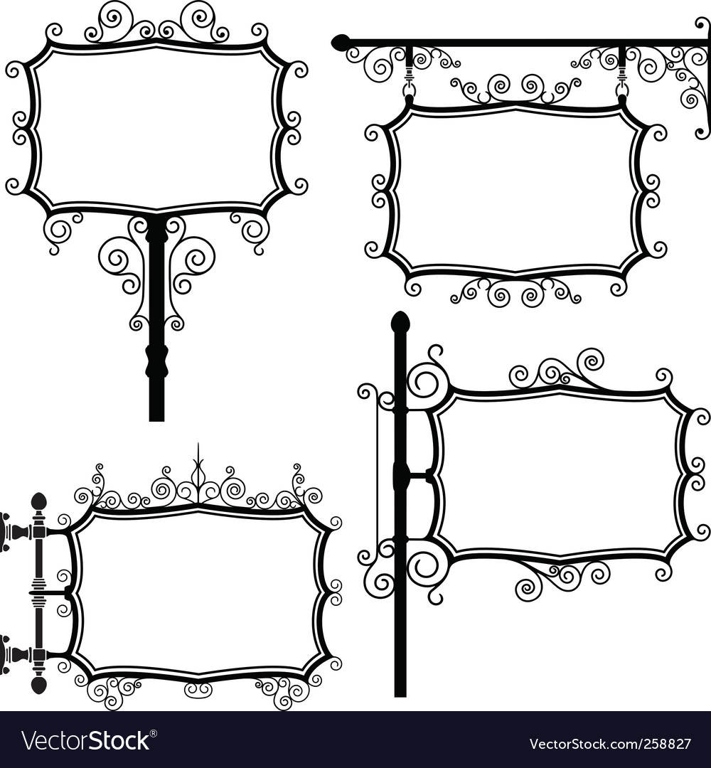 Wrought iron signs vector | Price: 1 Credit (USD $1)