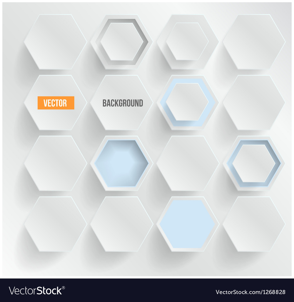 Abstract background hexagon web and design vector | Price: 1 Credit (USD $1)