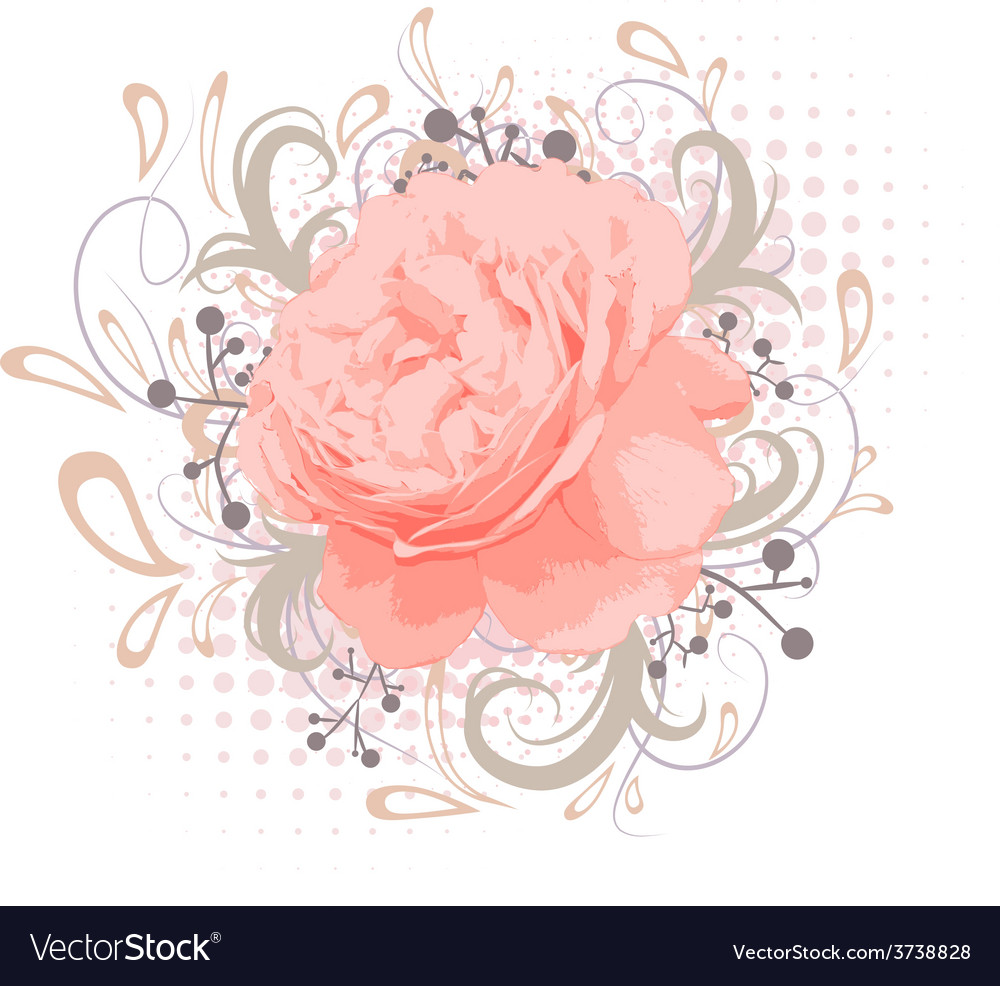Abstract peony flower vector | Price: 1 Credit (USD $1)