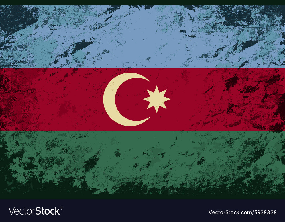 Azerbaijan flag grunge background vector | Price: 1 Credit (USD $1)