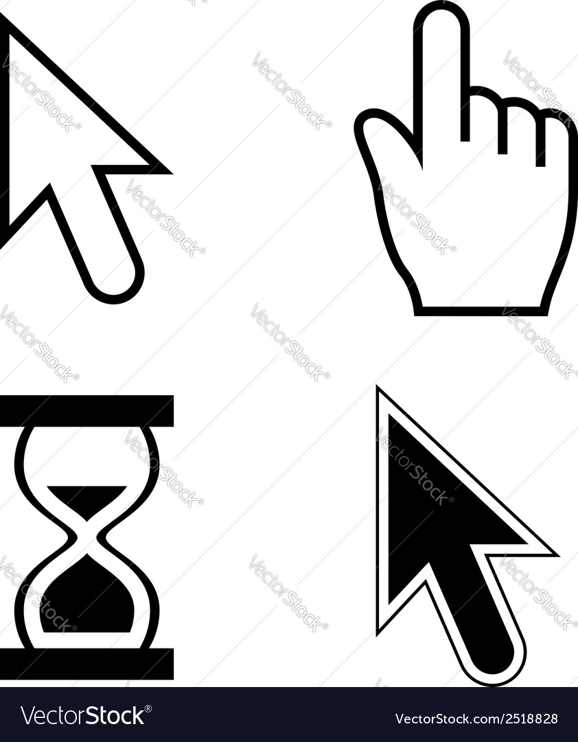 Cursor set vector | Price: 1 Credit (USD $1)