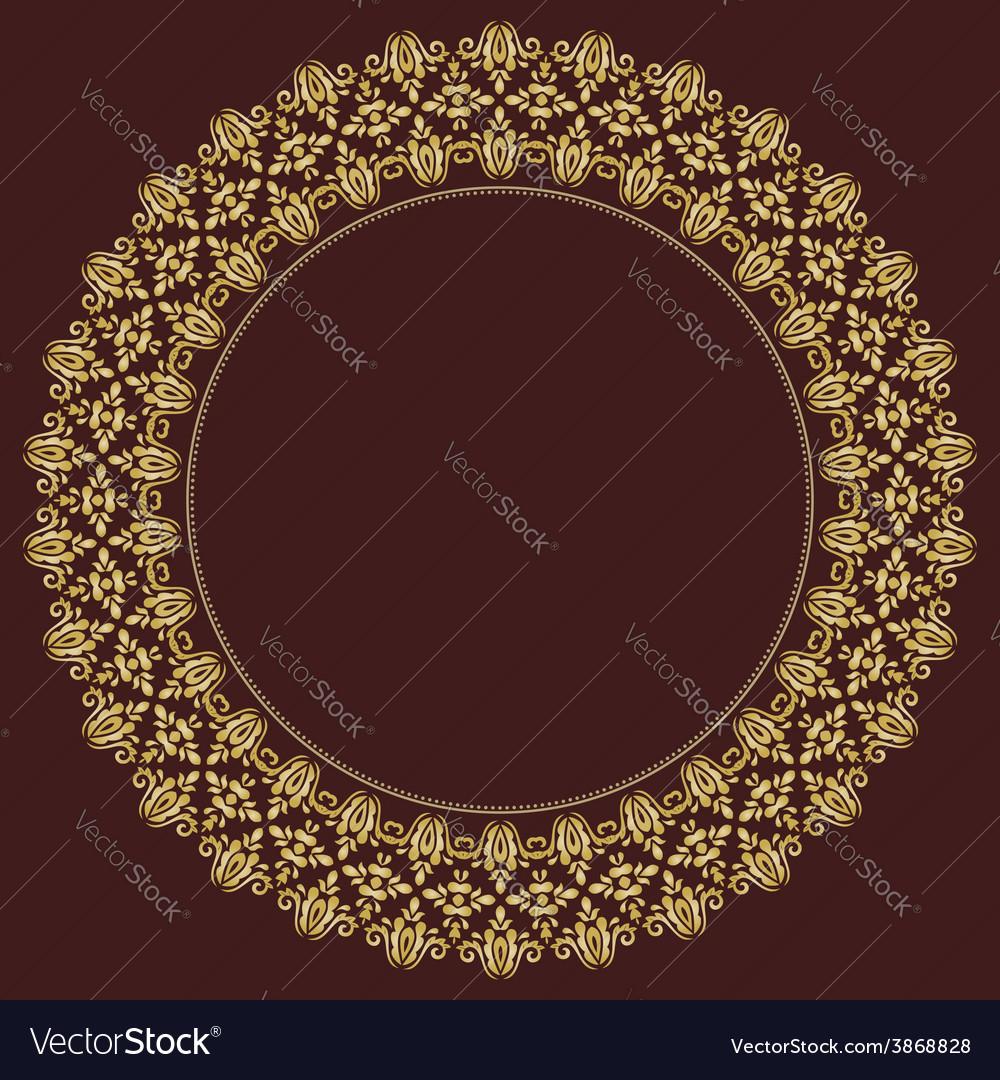 Floral modern frame vector | Price: 1 Credit (USD $1)