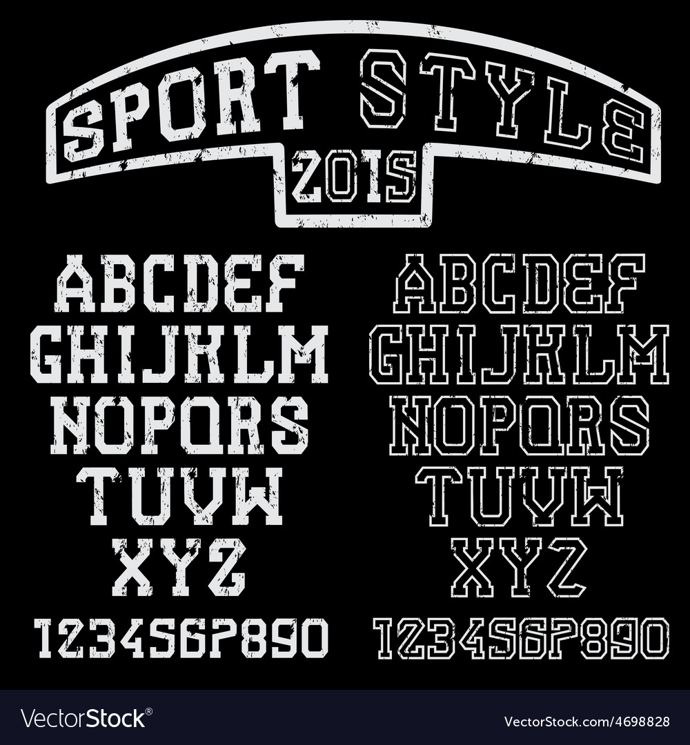 Grunge serif font in the retro style of sport vector | Price: 1 Credit (USD $1)