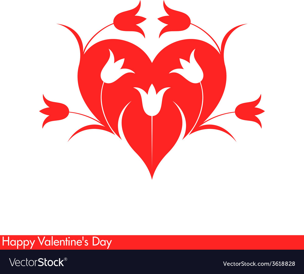Happy valentines day greeting card with vector | Price: 1 Credit (USD $1)