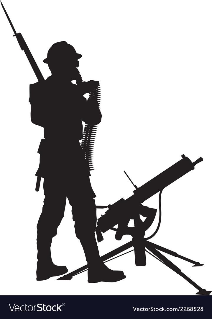 Mashine gunnerwarriors theme vector   Price: 1 Credit (USD $1)