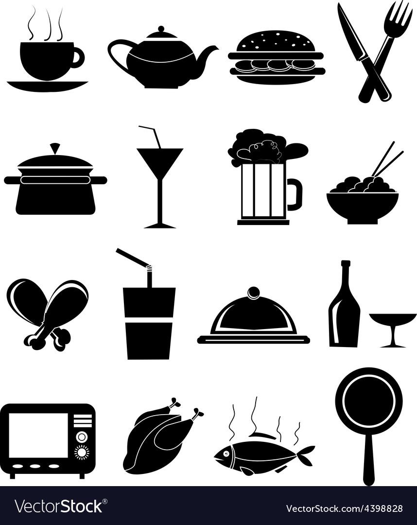Restaurant food icons set vector   Price: 3 Credit (USD $3)