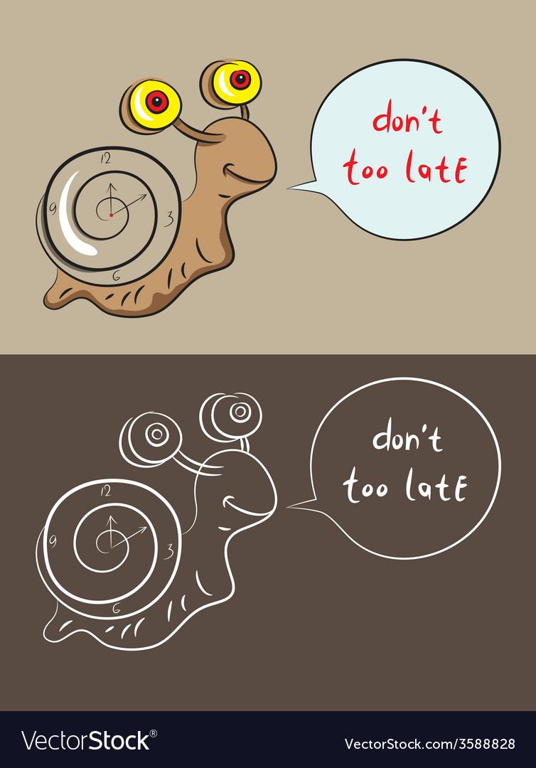 Snail cartoon vector | Price: 1 Credit (USD $1)