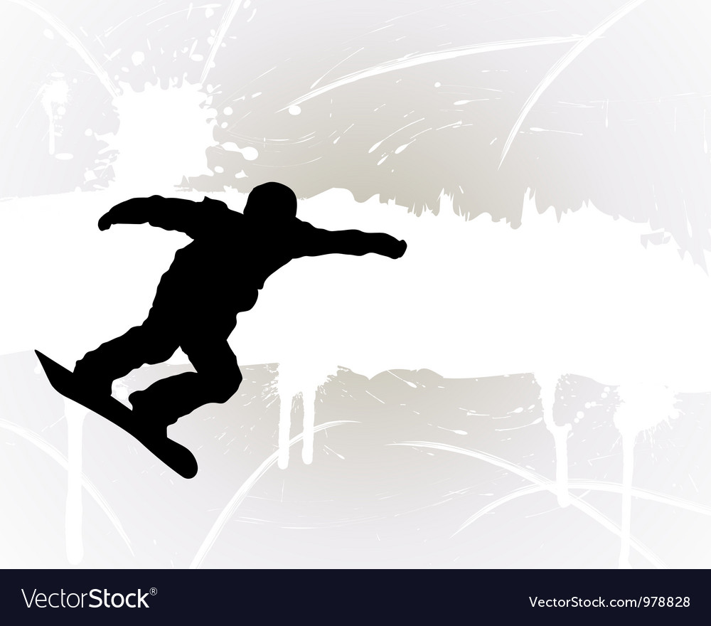 Snowboard background vector | Price: 1 Credit (USD $1)