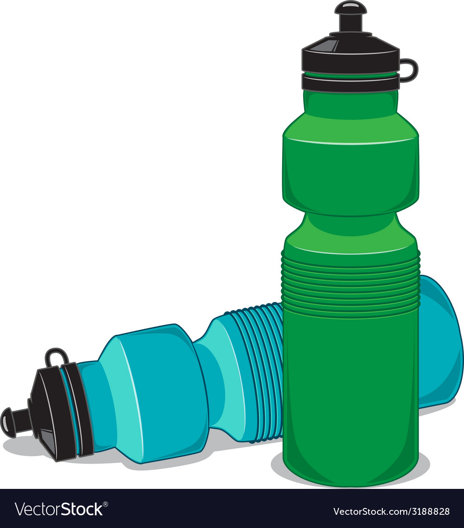 Sportsman water bottle isolated on white vector | Price: 1 Credit (USD $1)