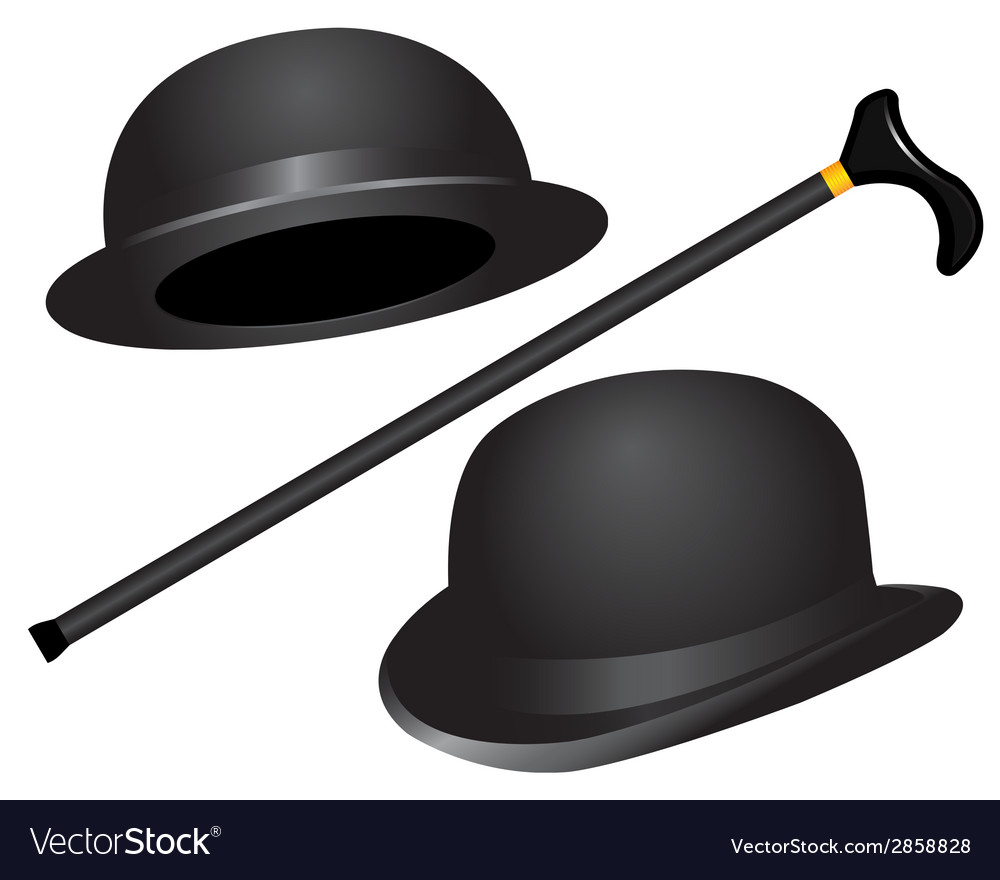 Two hats and cane vector | Price: 1 Credit (USD $1)