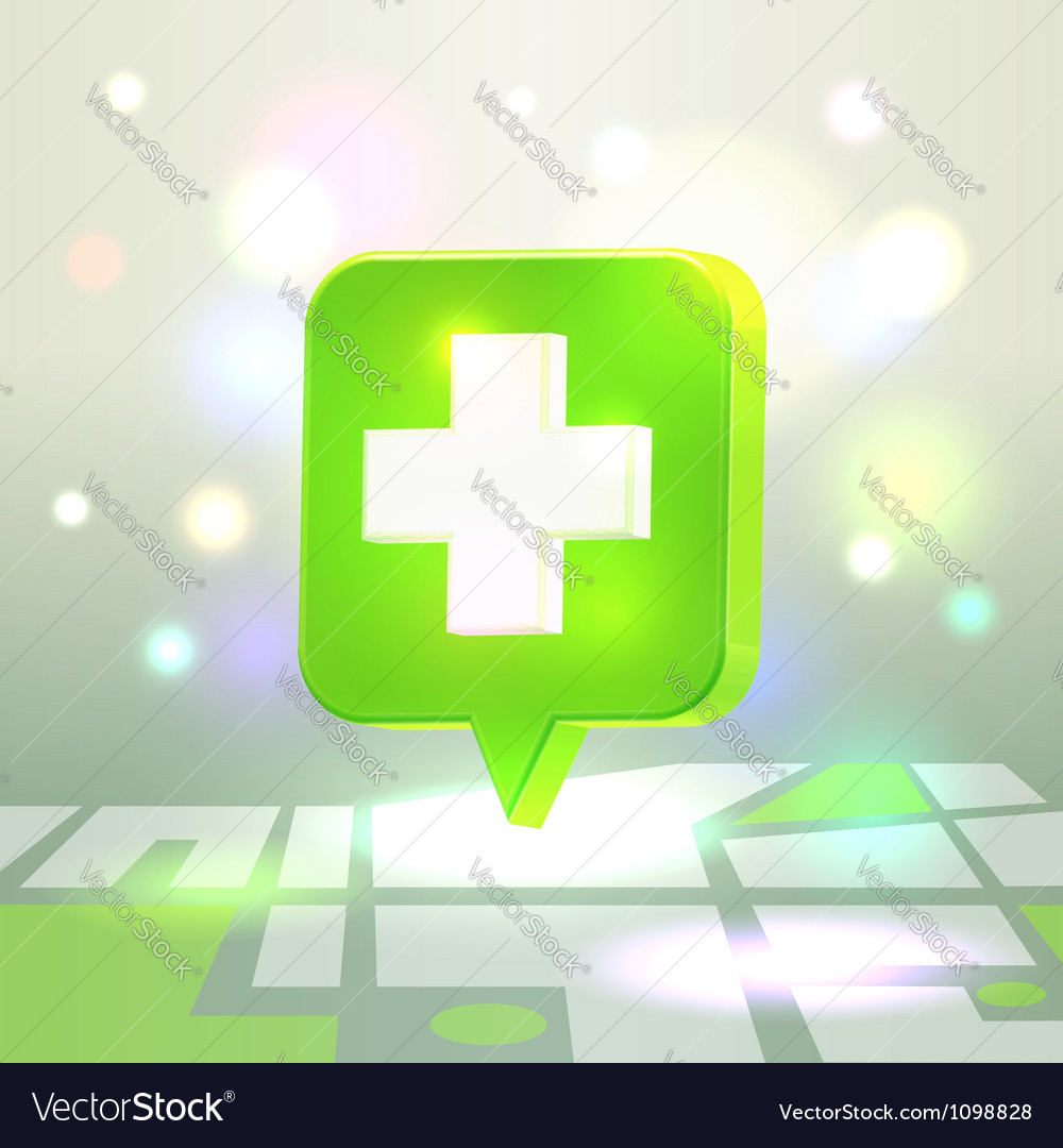 Web medical icon for map application vector | Price: 1 Credit (USD $1)