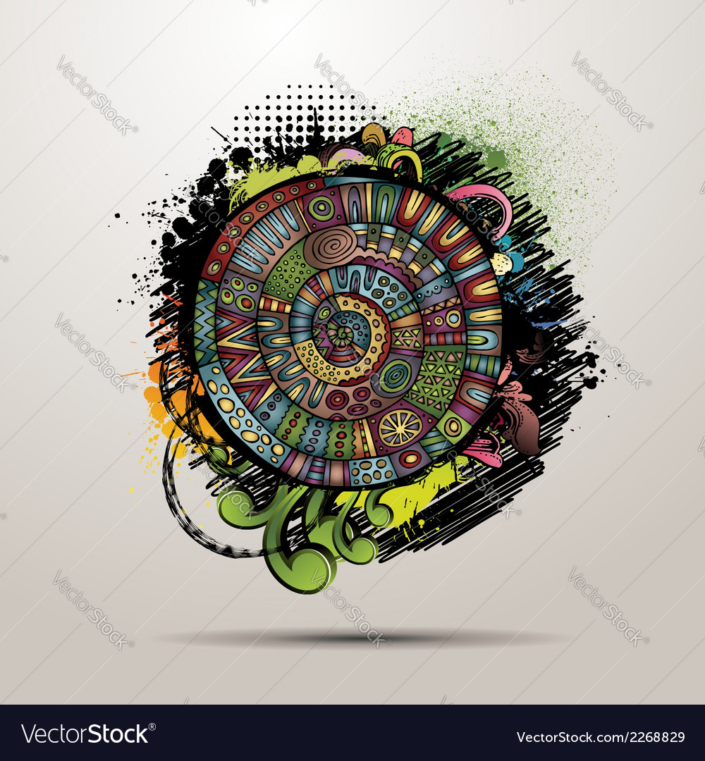 Decorative grunge abstract background vector | Price: 1 Credit (USD $1)