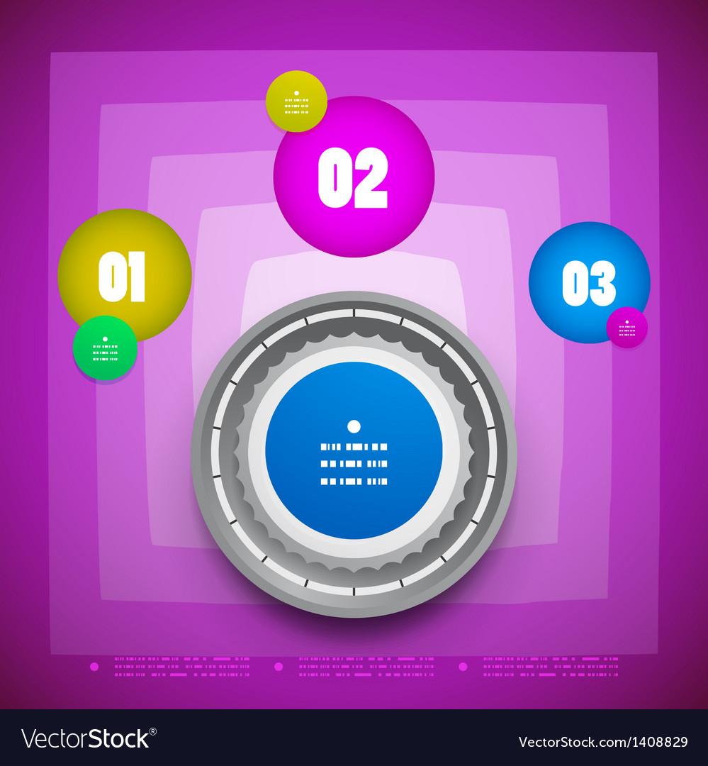 Knob option switch modern template vector   Price: 1 Credit (USD $1)