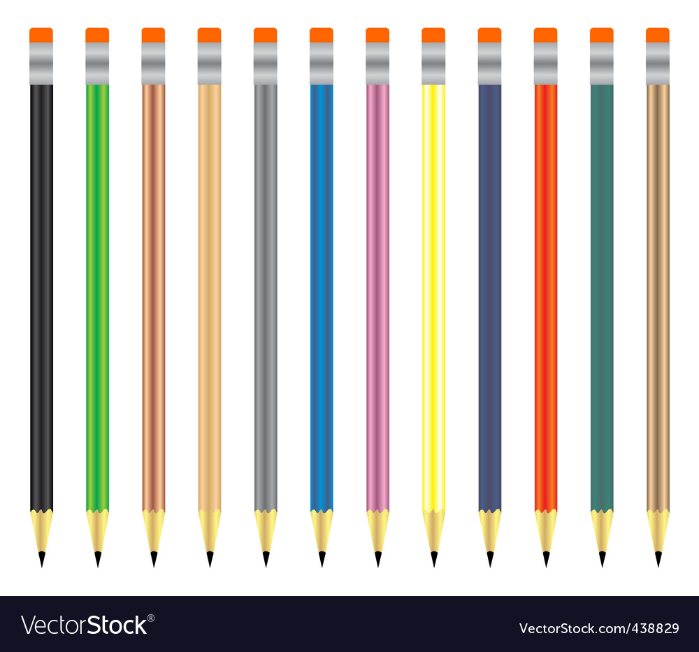 Pencil objects set vector | Price: 1 Credit (USD $1)