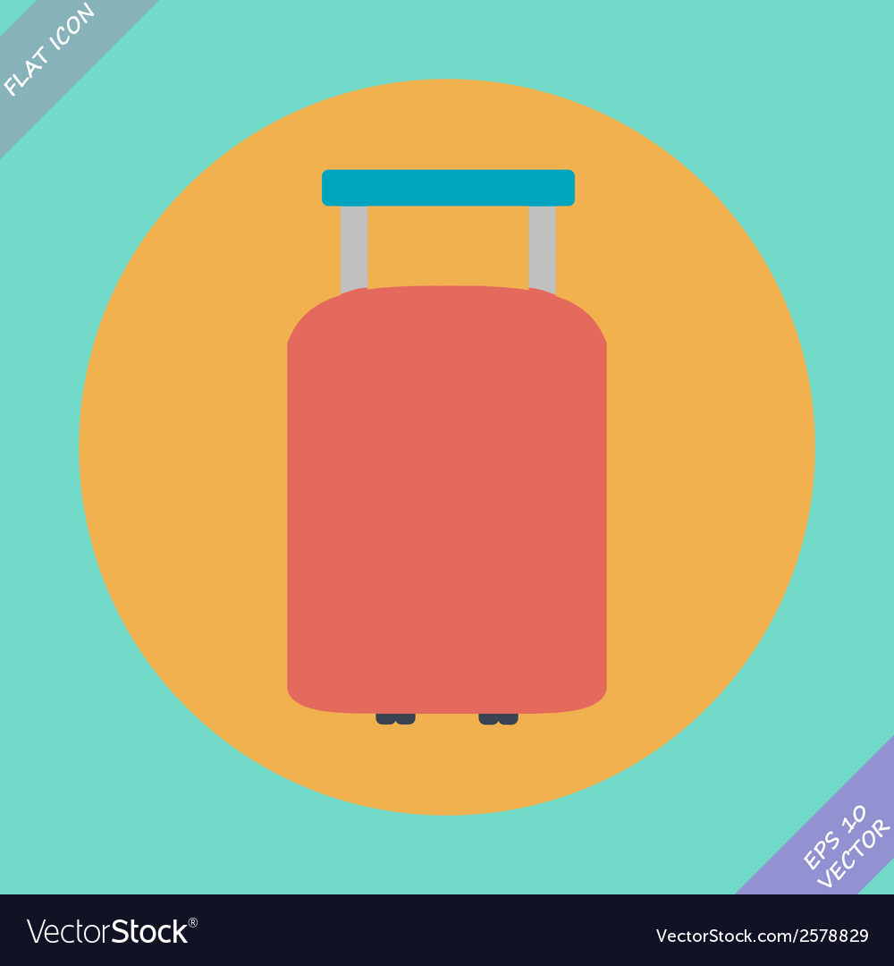 Suitcase for travel icon - vector | Price: 1 Credit (USD $1)