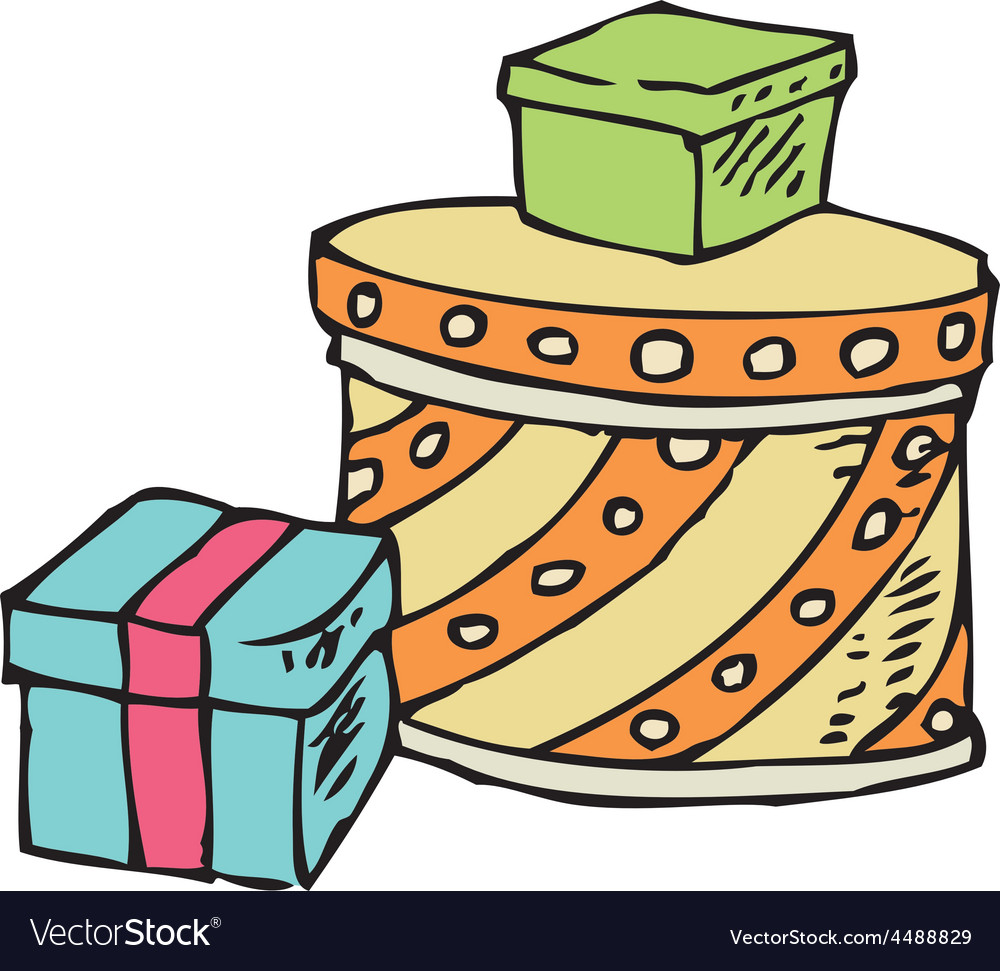 Three boxes with gifts vector | Price: 1 Credit (USD $1)