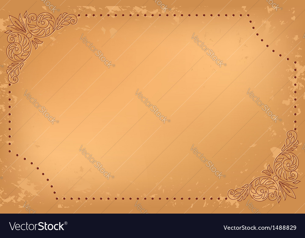 Vintage beige card with floral decoration vector | Price: 1 Credit (USD $1)
