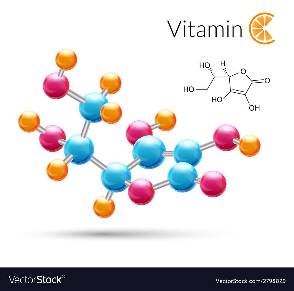 Vitamin c molecule vector | Price: 1 Credit (USD $1)