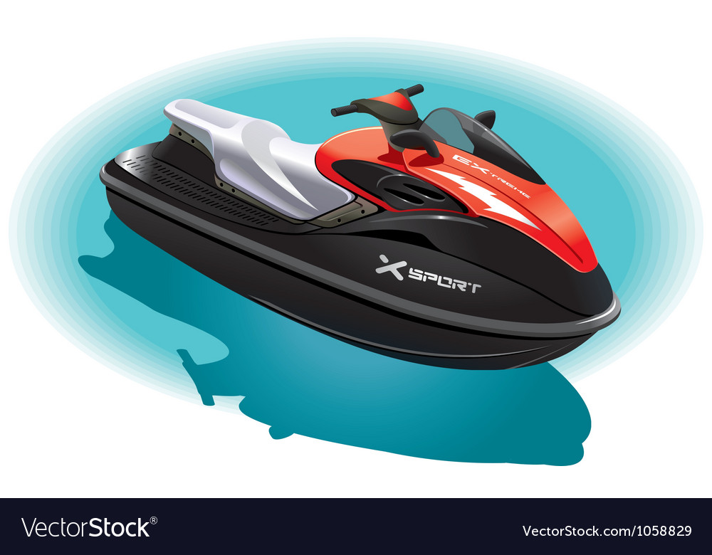 Water bike vector | Price: 3 Credit (USD $3)