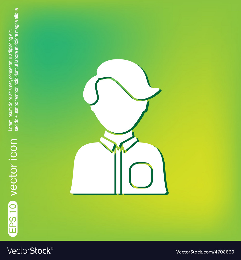 A male or female avatar man or woman avatar sign vector | Price: 1 Credit (USD $1)
